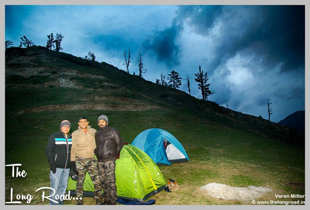 Tenting at kareri lake