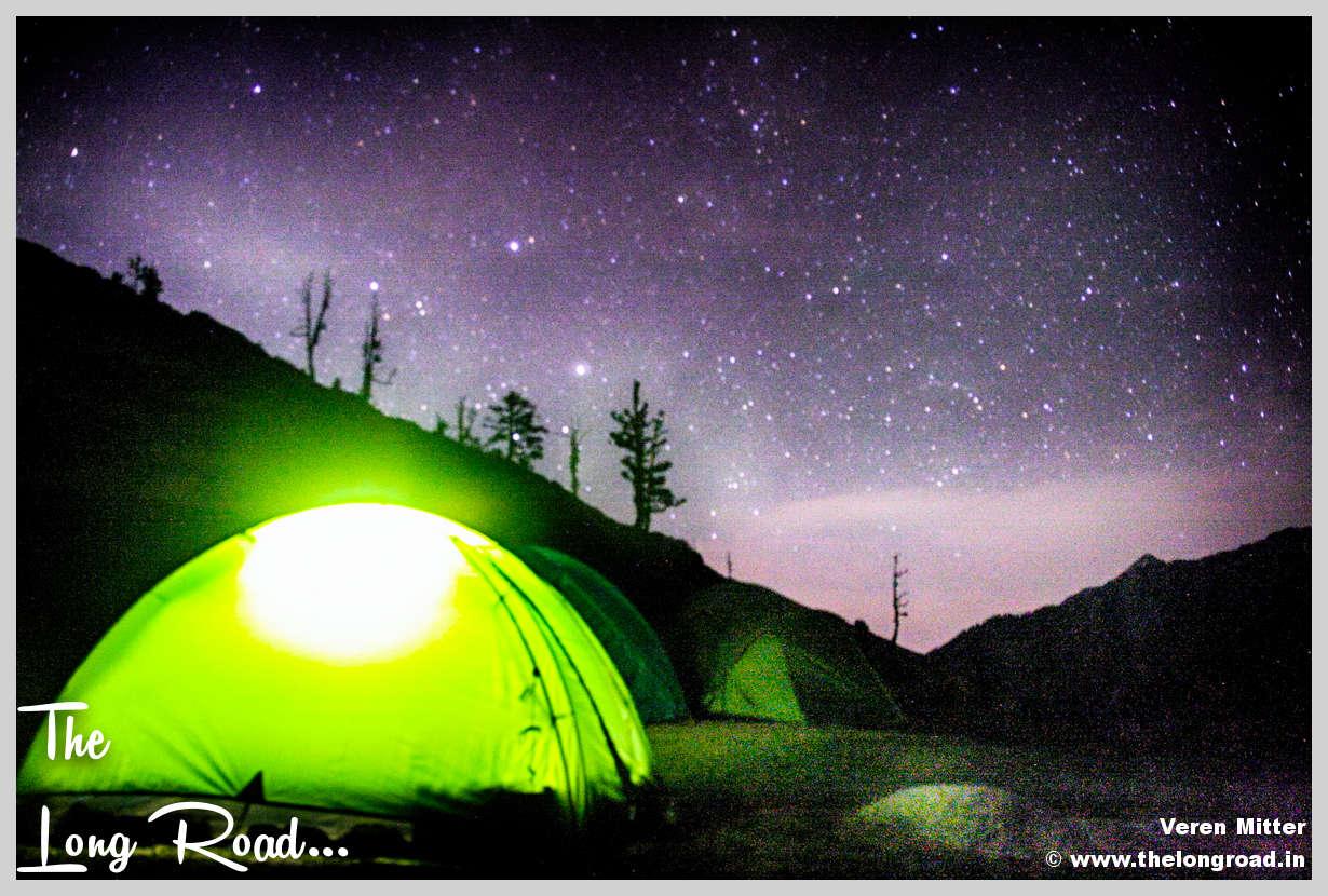 Kareri lake Campsite at Sunset