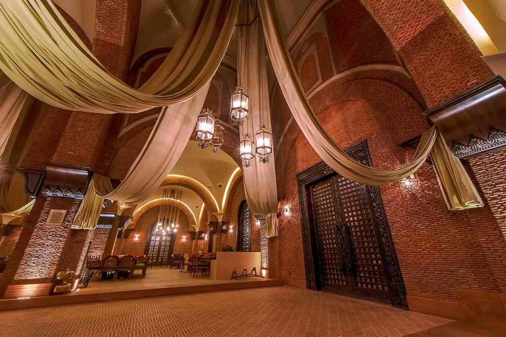 Interior of Restaurant area at Haveli Amritsar