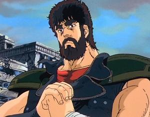 Kenshiro con la barba nella serie ken il guerriero