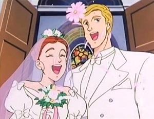 2 - Judy e Jervis si sposano nell'ultimo episodio (Papà Gambalunga) matrimonio anime