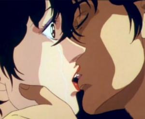 episodio del bacio tra Hunter e Kreta in City Hunter