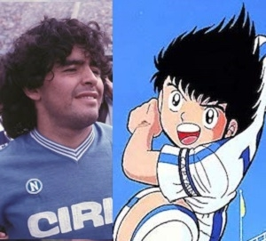 Oliver Hutton è ispirato a Maradona in Holly e Benji