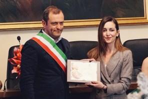 Ho ricevuto il Premio di Eccellenza, dal sindaco di Sora