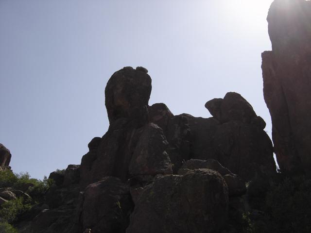 Interesting rocks notice eagle on right