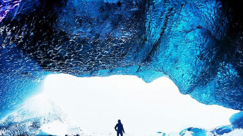 Ashlyn George Ice Caving Breidamerkurjokull Glacier