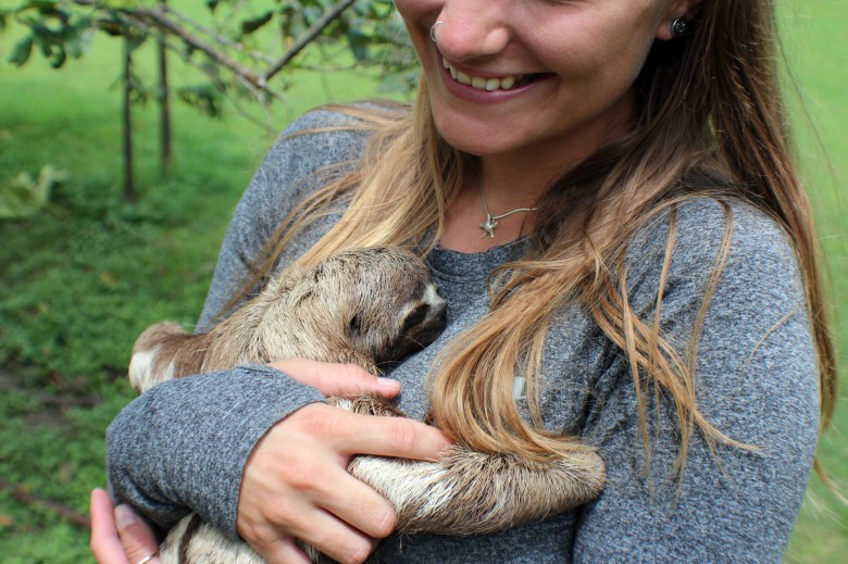 Love at first site for me and the baby sloth, Rosalita.