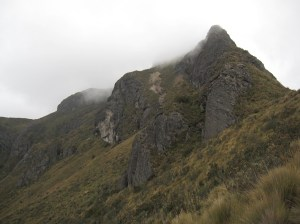 It doesn't look very high up in this photo, but Rucu Pichincha stands an amazing 4696m above sea level.