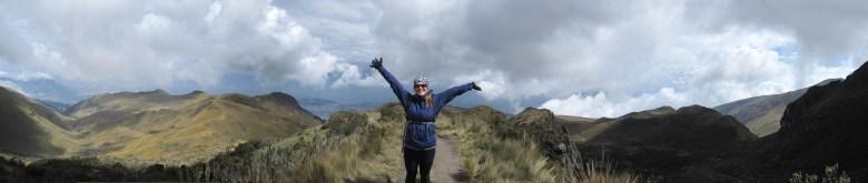 Enjoying the incredible view on the way down Rucu Pichincha