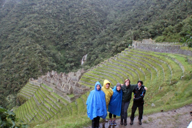 The five of us who decided to partake in the ceremony the night before we arrived at Machu Picchu.