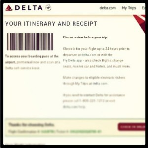 Official Travel Confirmation of my flights to South America