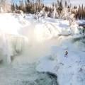 Nistowiak Falls in Winter