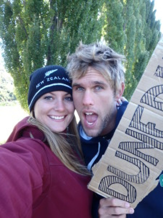 Stu and I hitchhiked together across most of New Zealand.