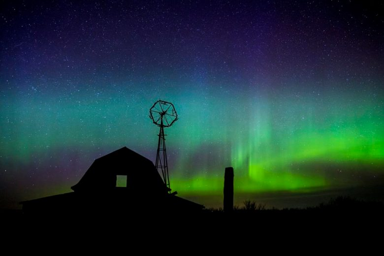 Credit: Ryan Wunsch Photography, Northern Lights over Ryan's family's homestead