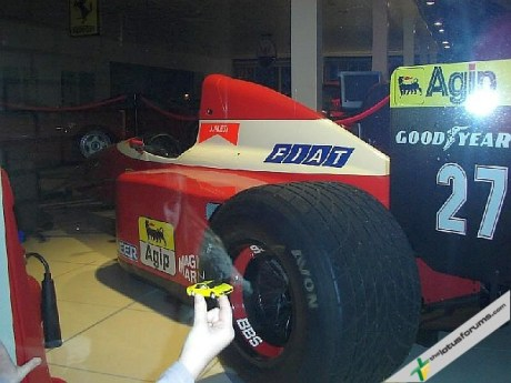 Finally, LEFty took a trip to more comforting surroundings at a Ferrari dealership a took advantage of a photo opportunity with Jean Alesi's F1 car: