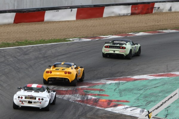 John Rasse leads Andrew Wright (44) in the Production class, the pair sharing the spoils at the Belgian circuit