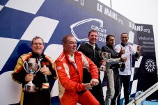 The Lotus Cup Europe Class Champions L-R: David Harvey (Open), Jonathan Walker (V6 Cup), Andrew Wright (Production), Jeremy Lourenço (2-Eleven and overall), and Nicolas Ferrer (Exige Cup)