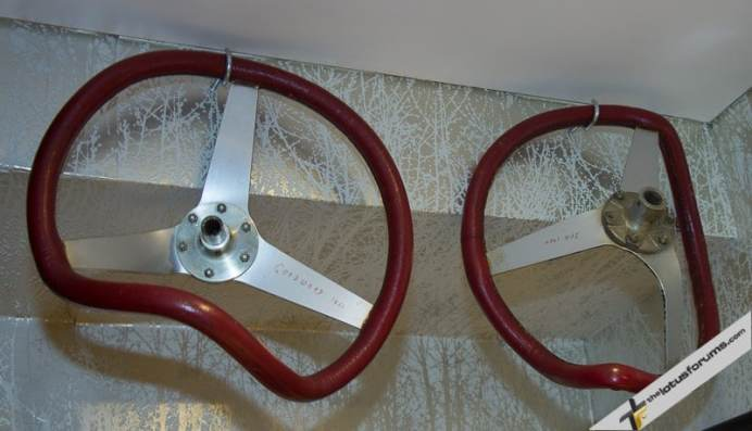 Steering wheels from Sir Stirling's crashes