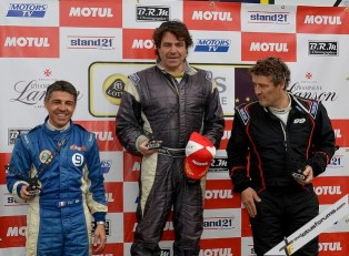 Race two overall podium
