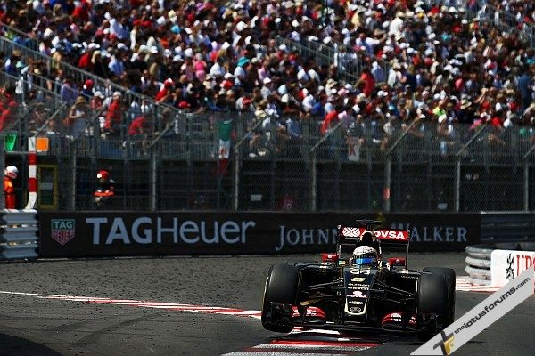 Romain Grosjean (FRA) Lotus F1 E23. Monaco Grand Prix, Sunday 24th May 2015. Monte Carlo, Monaco.