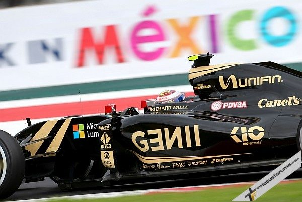 Pastor Maldonado (VEN) Lotus F1 E23. Mexican Grand Prix, Saturday 31st October 2015. Mexico City, Mexico.