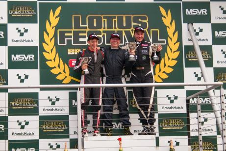 (L-R) Loup, Williams and Packer on the podium after race one