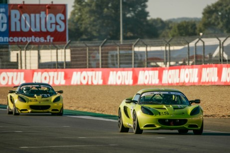 Thierry Hedoin (leading) and Mark Yates scored Production class wins