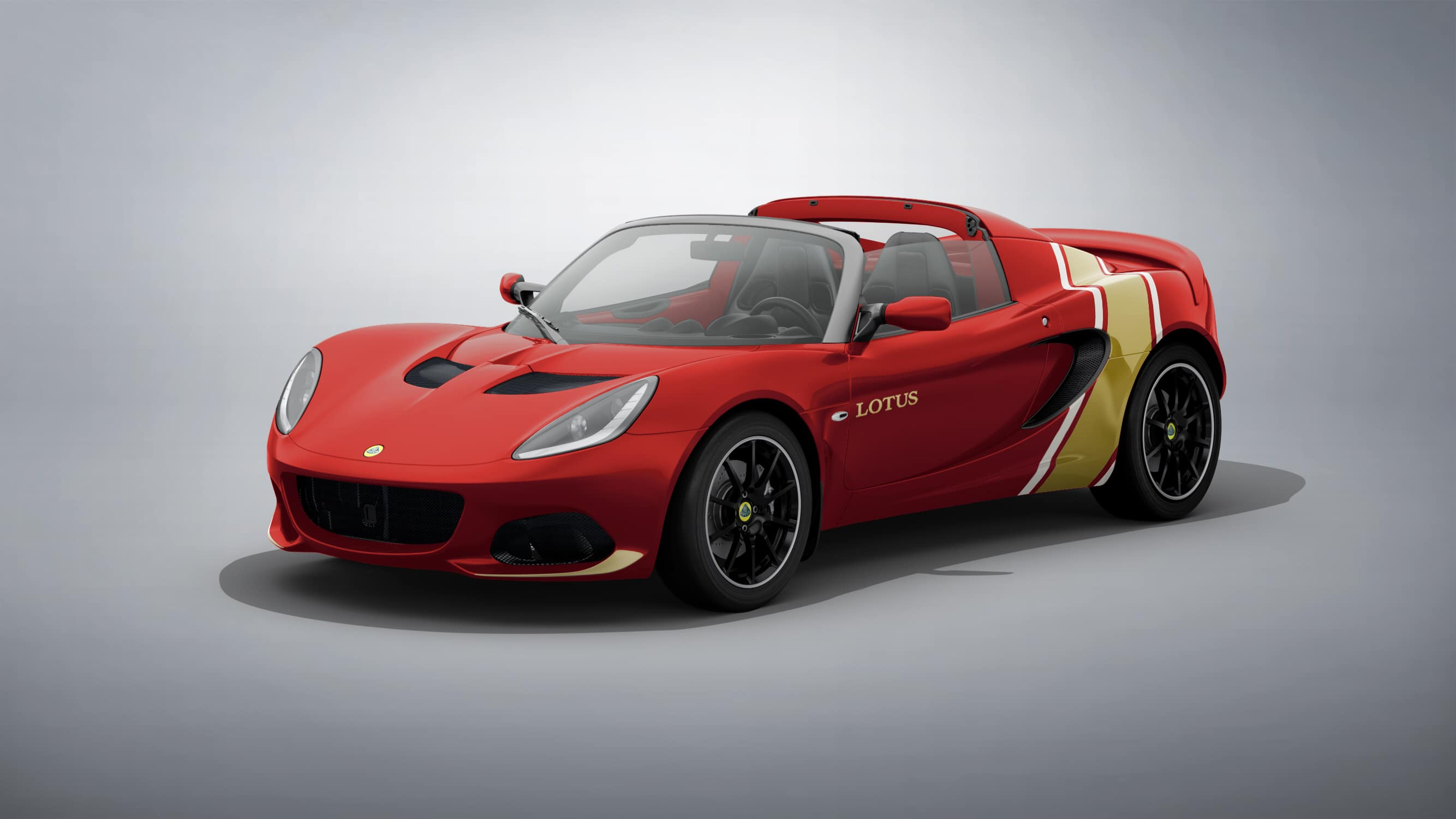 The Lotus Elise Classic Heritage Edition is very colourful