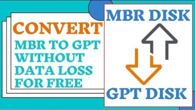 Photo of Convert MBR to GPT Without Data Loss for Free