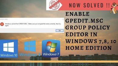 Photo of Enable Gpedit.msc in Windows 10 Home Edition – LotusGeek
