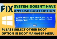Photo of System Doesn't Have any Boot Option