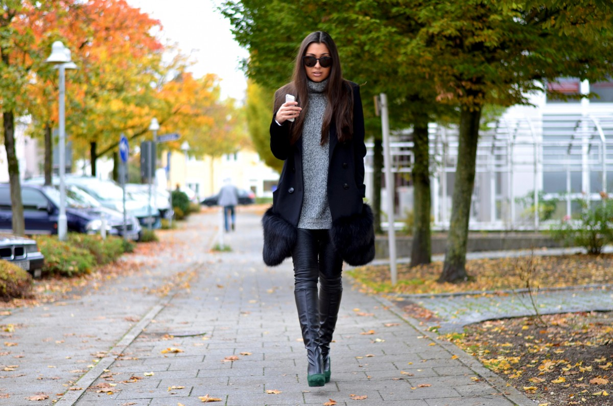 streetstyle-munich-fall-autumn-look-ootd-outfit-lookbook-calvinklein-sunnies-newlook-knit-turtleneck-rollkragen-leather pants-intramontabile boots-antoinette-black-coat