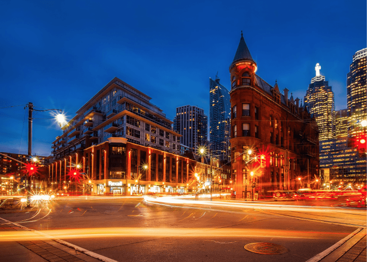 Busy intersection in Toronto