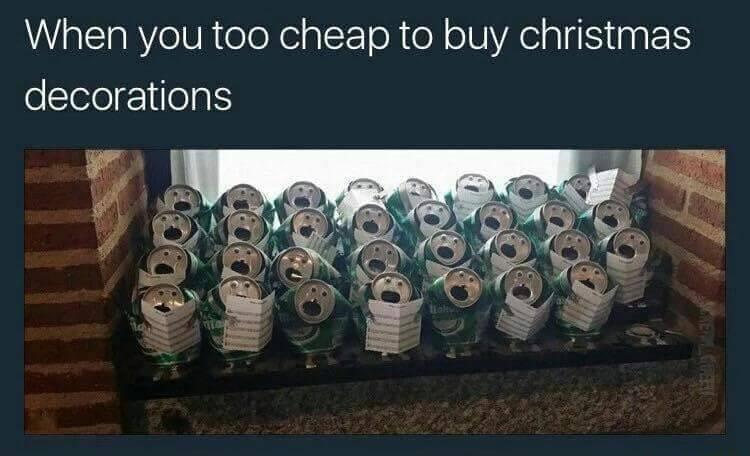 christmas decorations meme