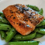 Miso Glazed Salmon with Sesame Soy Snap Peas