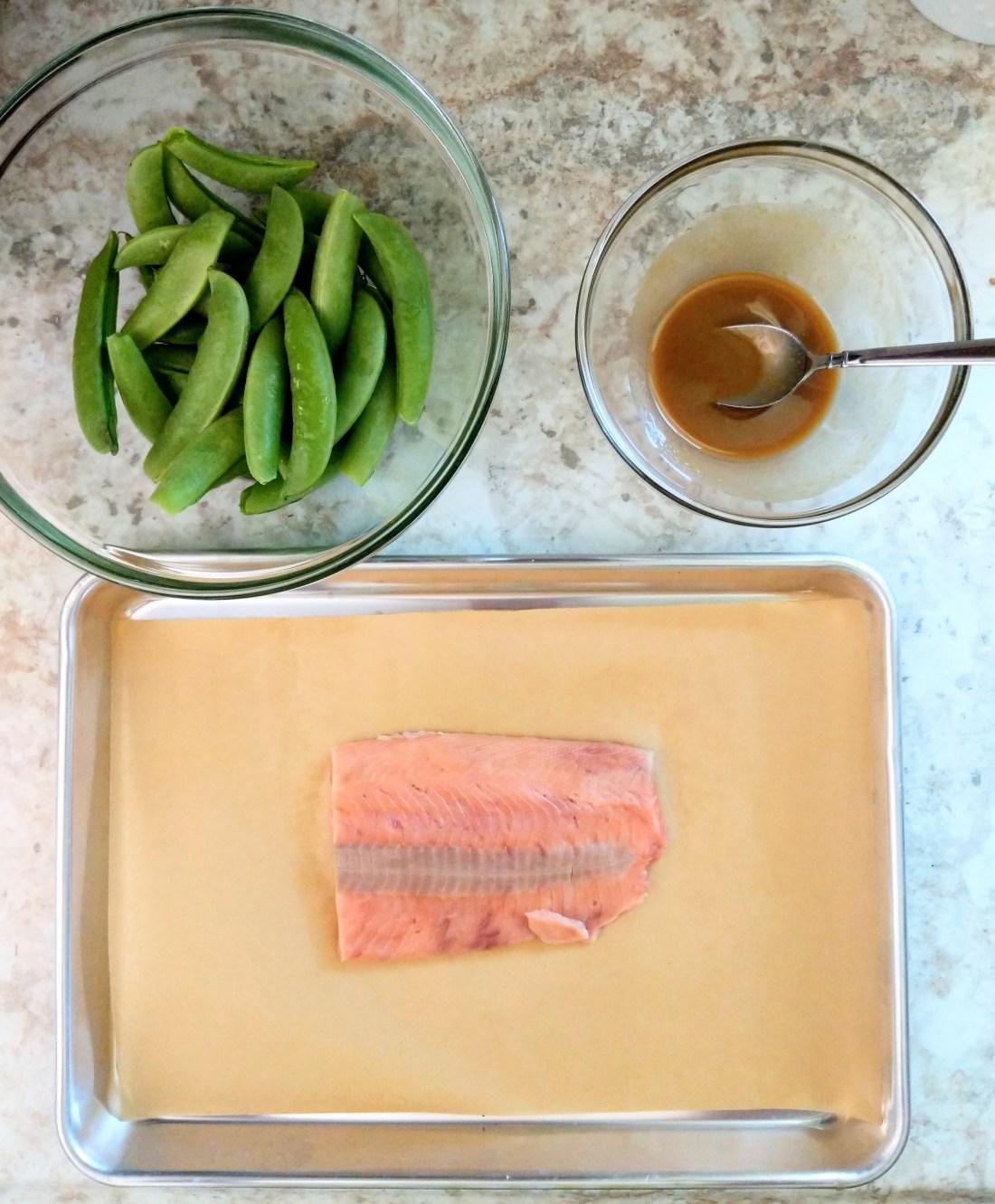 Miso Glazed Salmon & Sesame Soy Snap Peas