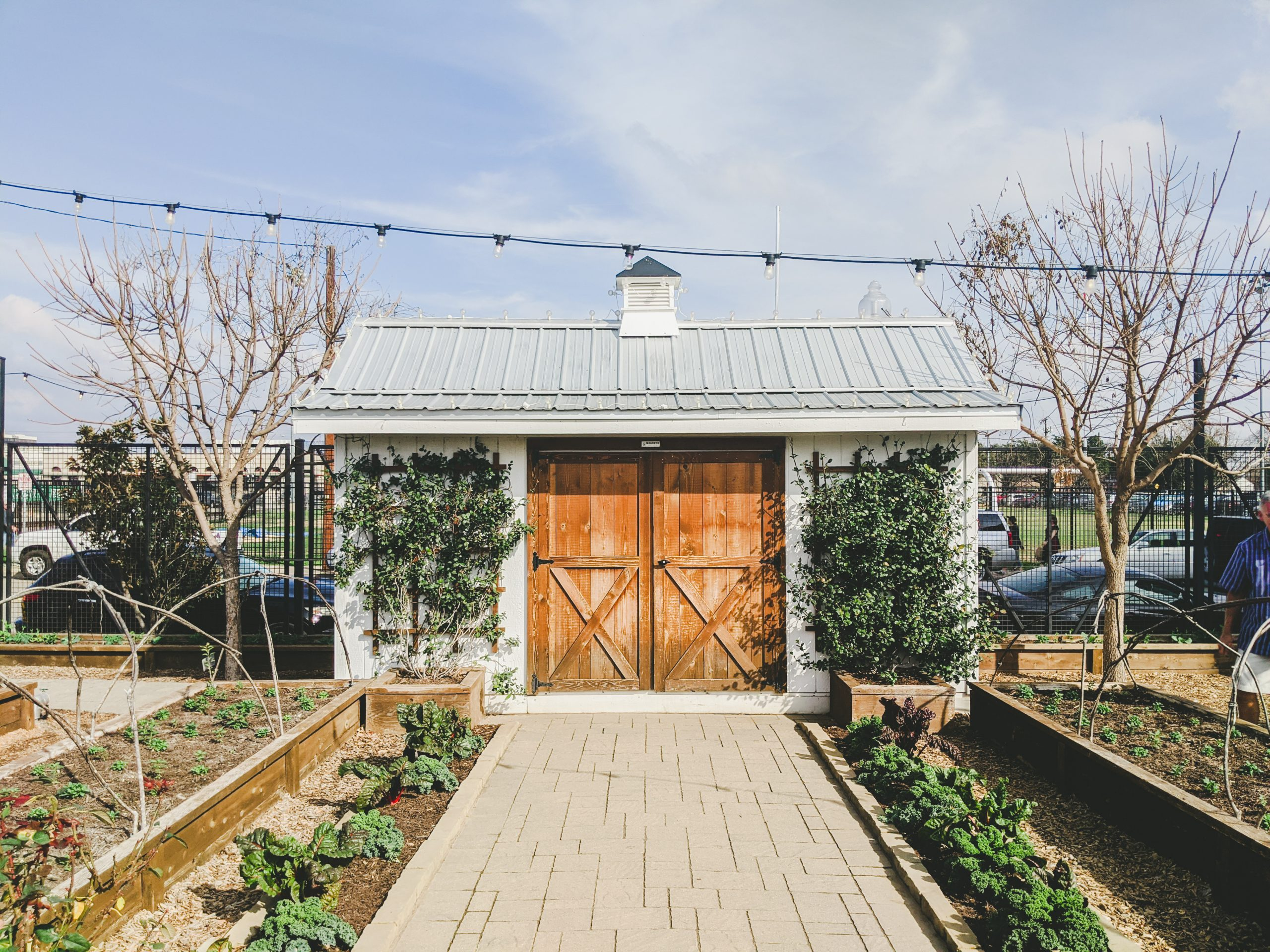 magnolia silos shed and garden