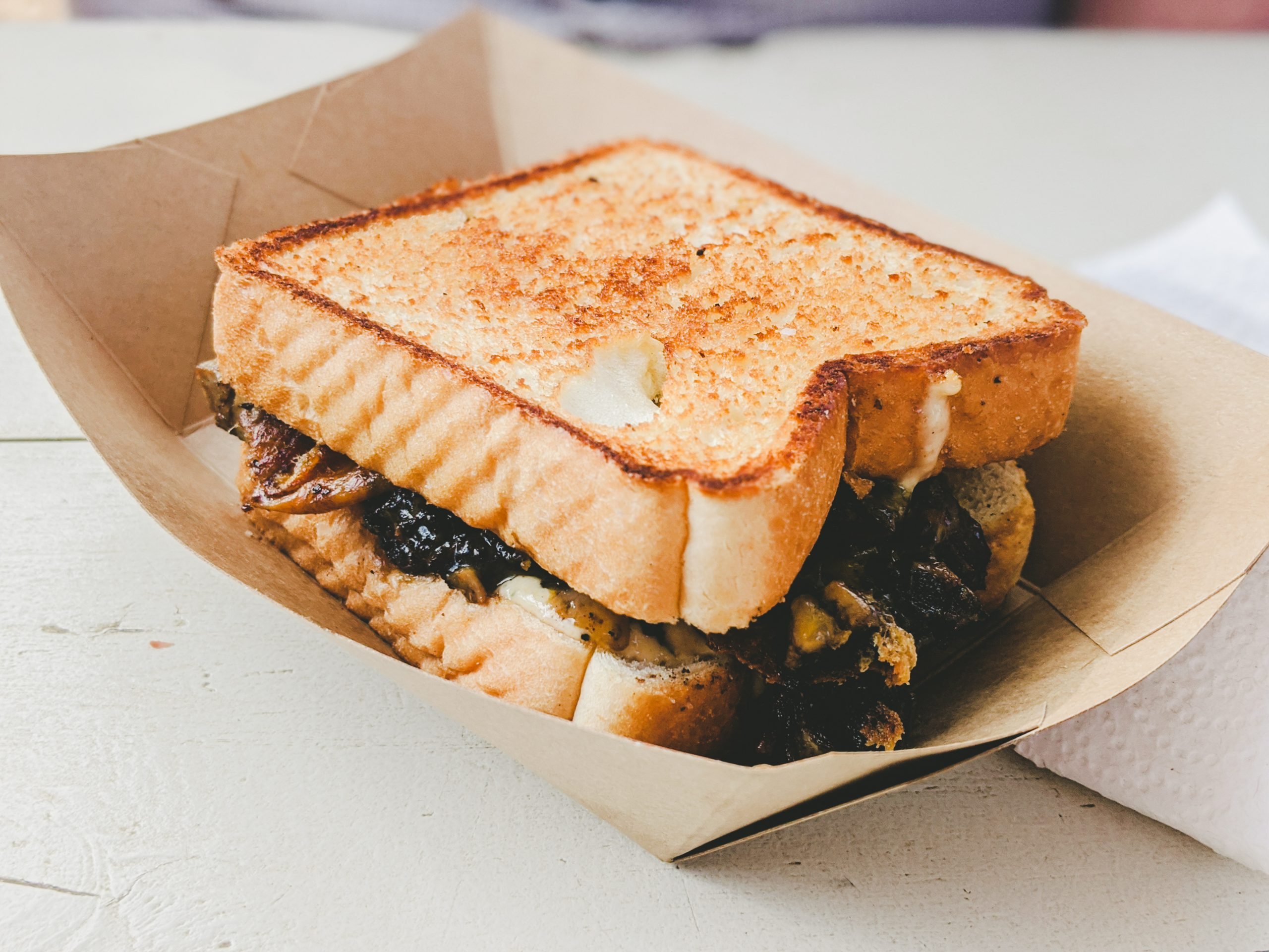 brisket melt sandwich from guess family barbecue