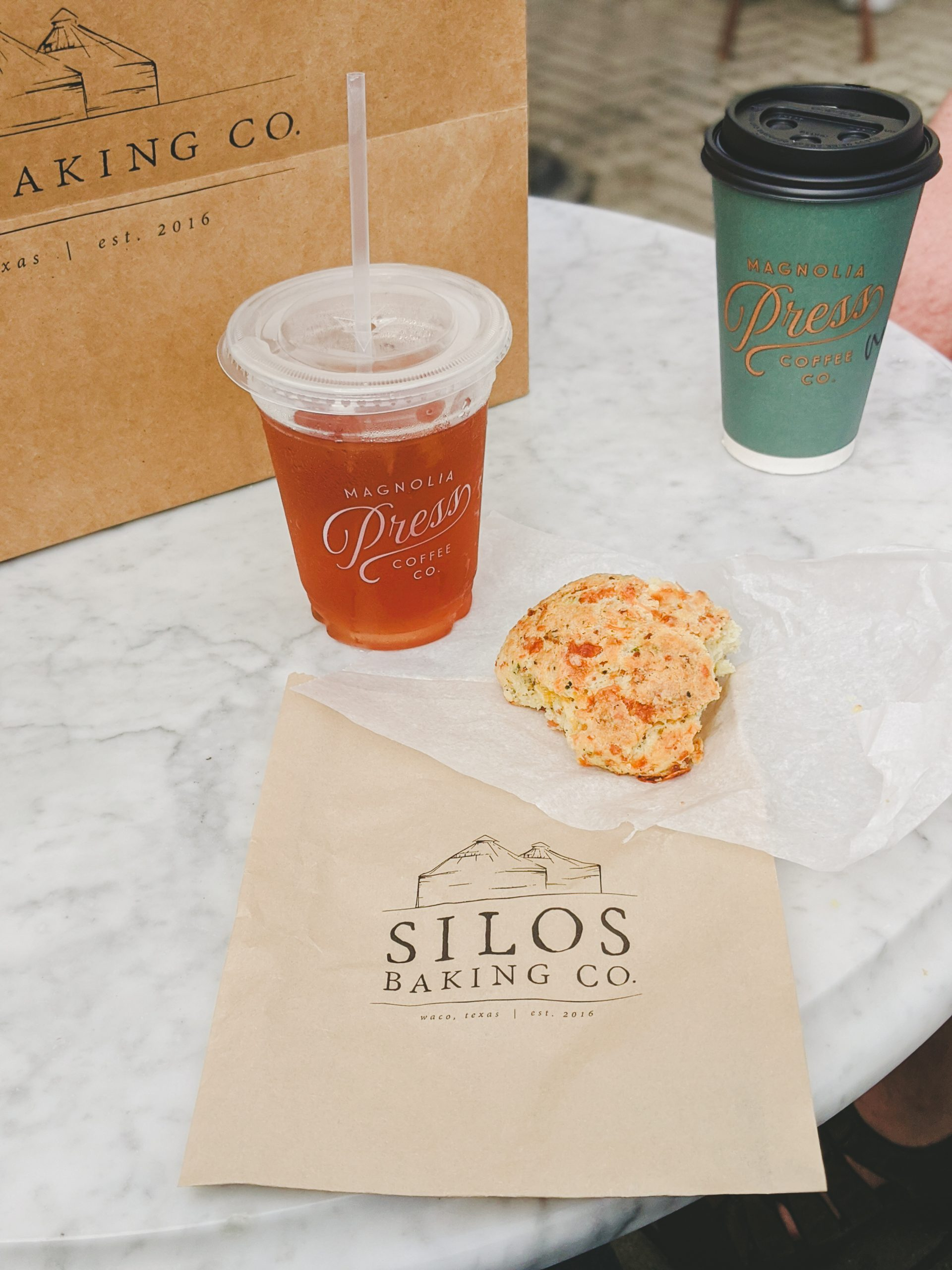 silos baking co. drinks and biscuit