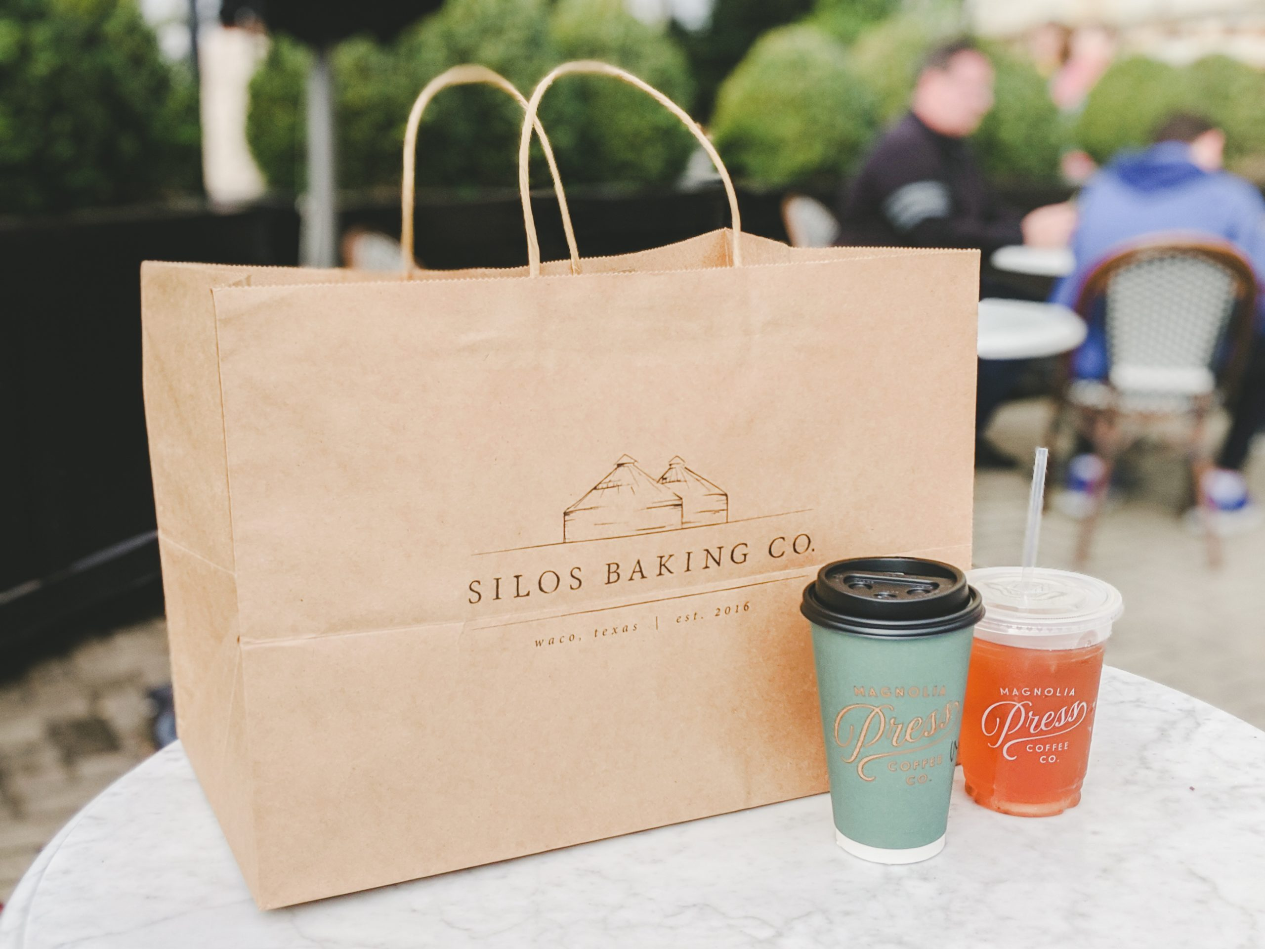silos baking co. bag and drinks