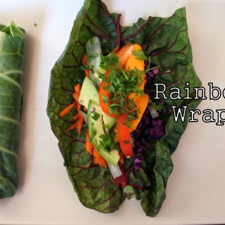 Rainbow Wraps with Ginger Peanut (or Pumpkin Seed) Sauce