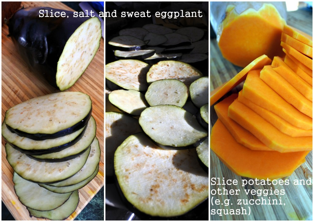 Vegan Moussaka eggplant squash vegetarian entree L'Oven Life