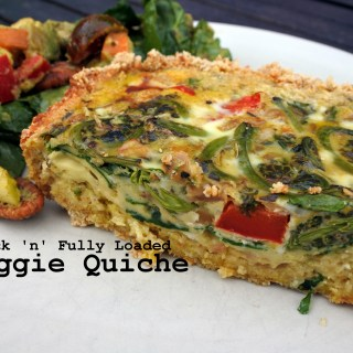 Quick'n'Fully-Loaded Veggie Quiche