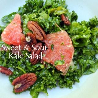 Sweet & Sour Citrus Kale Salad
