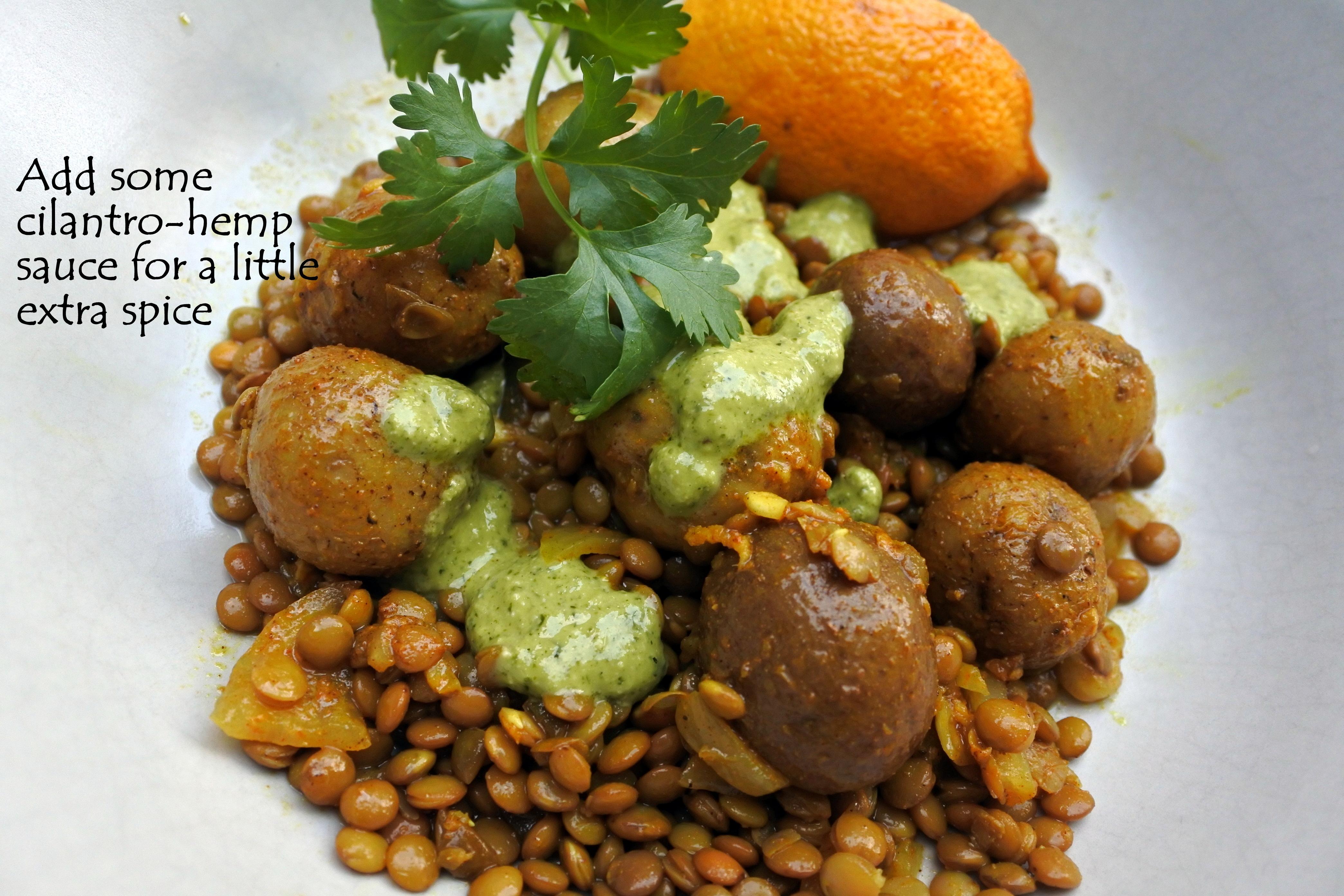 lentil curry - green goo