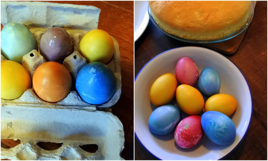 Easter eggs coloured by nature easter eggs breakfast latvia hard boiled egg recipe natural food dye colour jackie lane ottawa blog forumfinder