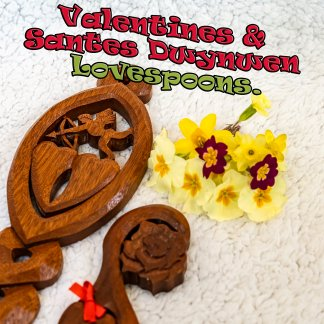 Valentines Day lovespoons