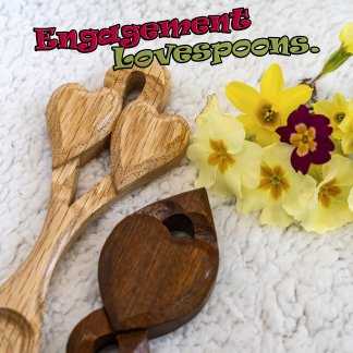 Engagement lovespoons