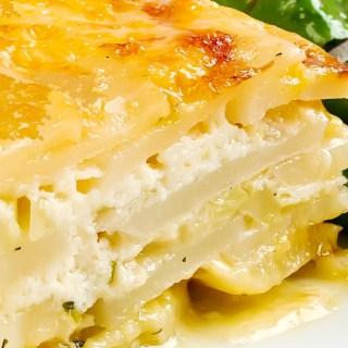 Potato Gratin with Ricotta, Pancetta & Melted Leeks   LunaCafe