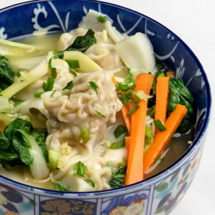 Spicy Pork Wonton Soup | LunaCafe